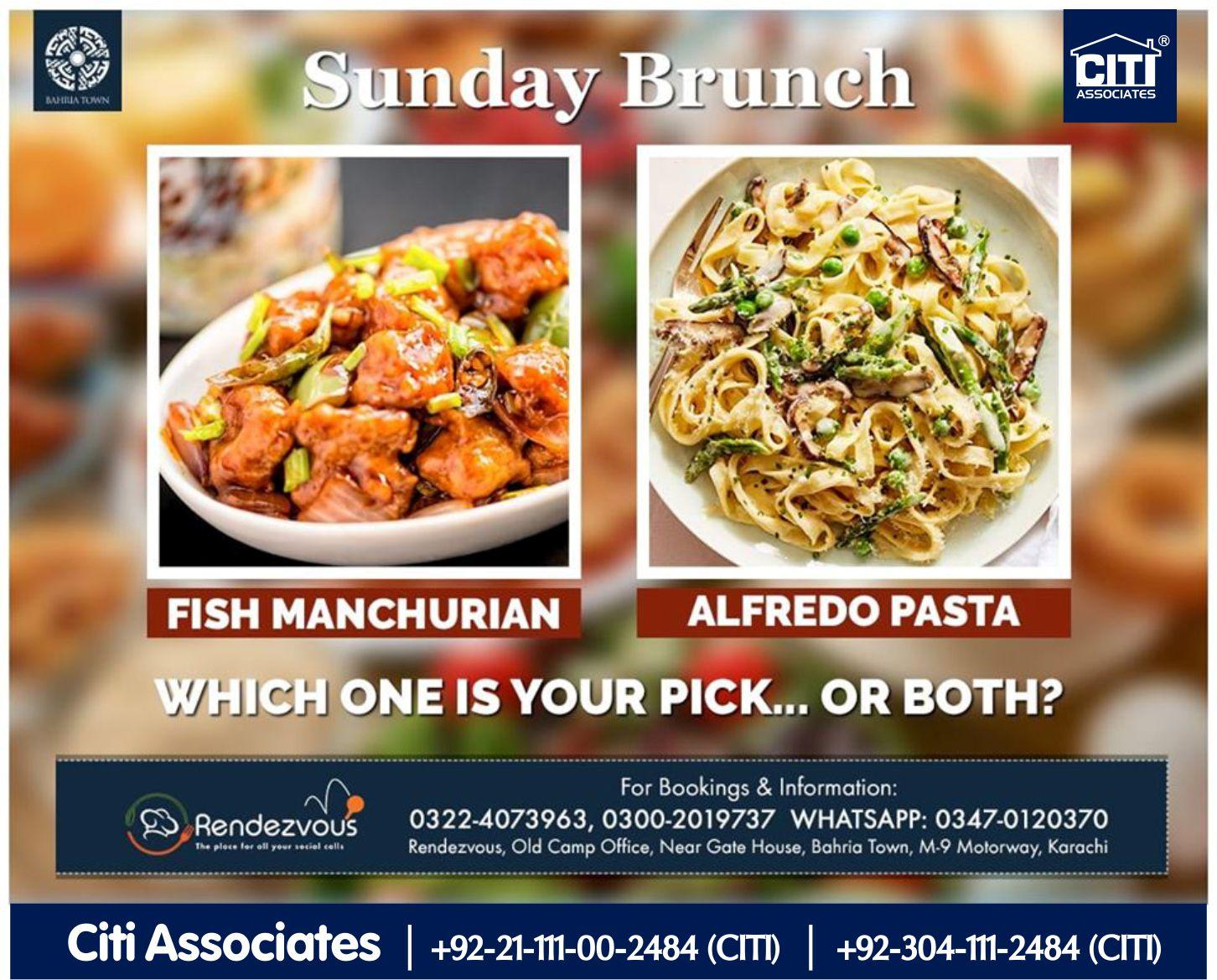 Sunday Brunch | Rendezvous | Bahria Town Karachi