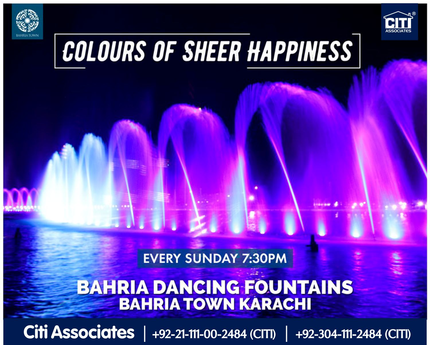 Colours of Sheer Happiness | Bahria Dancing Fountains Karachi