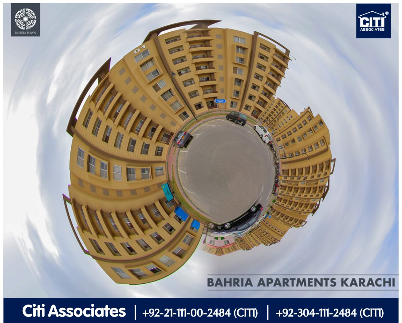 Top view of 'Bahria Apartments Karachi'