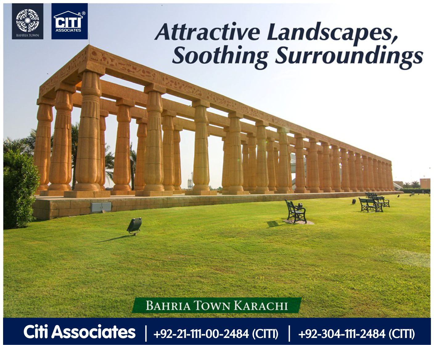 Attractive Landscapes, Soothing Surroundings |  Bahria Town Karachi