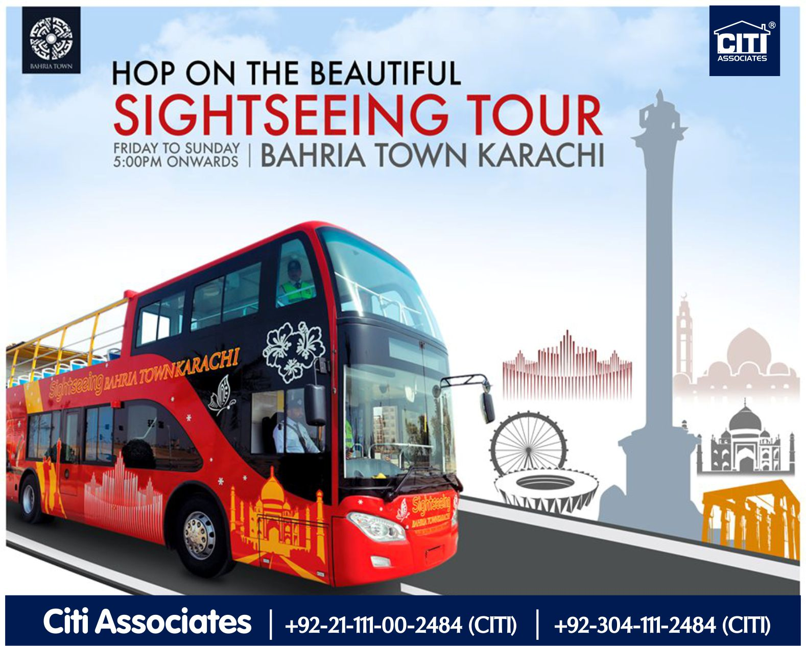Hop on the Beautiful Sightseeing Tour | Bahria Town Karachi