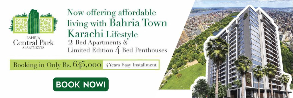 Bahria Central Park Apartments - Booking Price and Installment Plan
