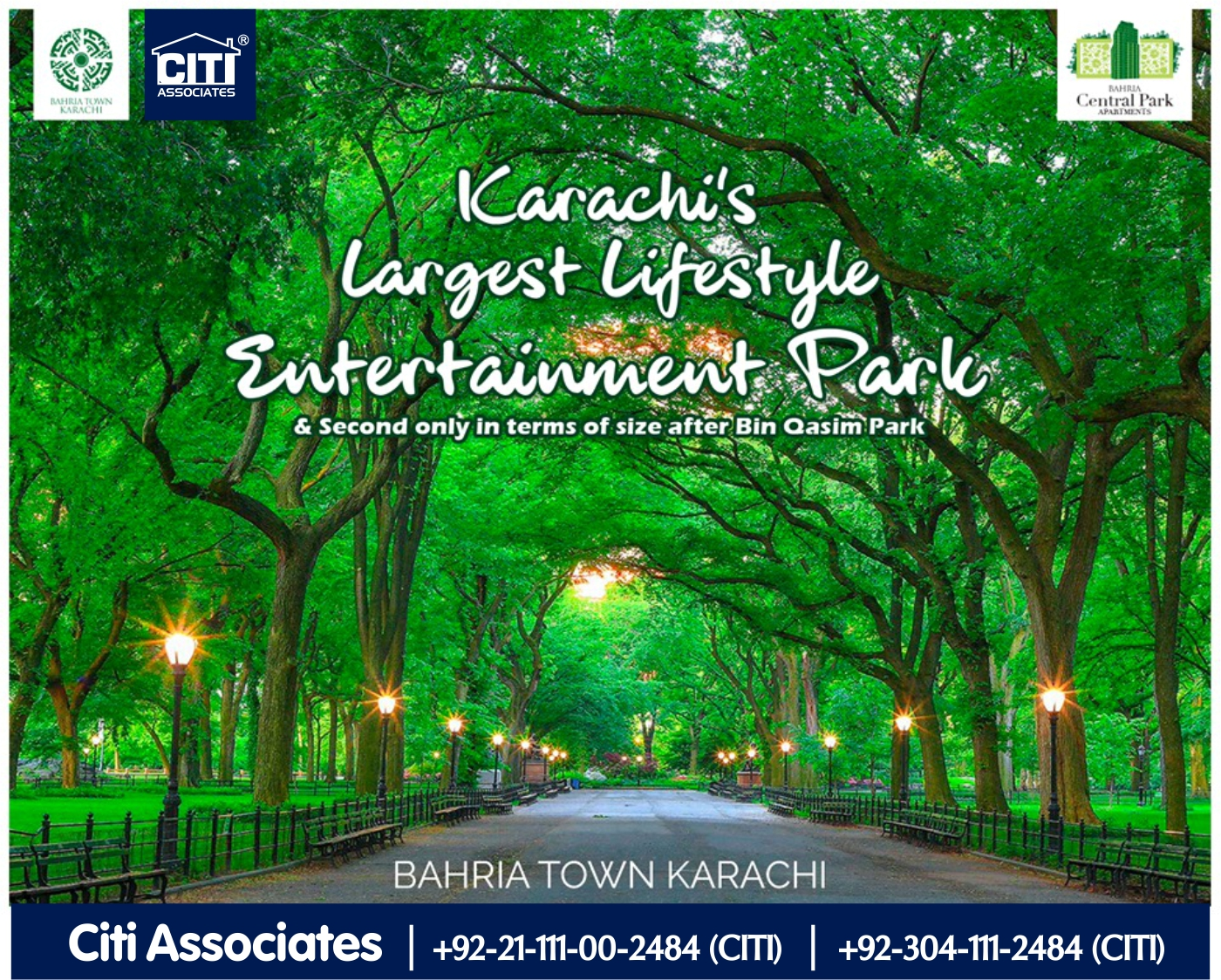 Karachi's Largest Lifestyle Entertainment Park | Bahria Central Park Apartments