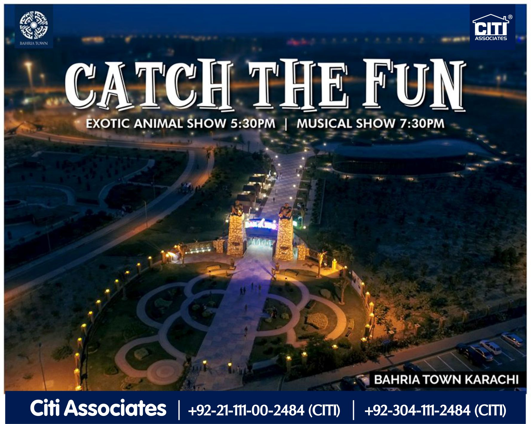 Catch the Fun | Exotic Animal & Musical Show | Bahria Town Karachi