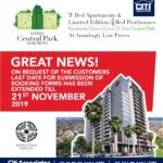 Bahria Central Park Apartments Karachi has been Extended