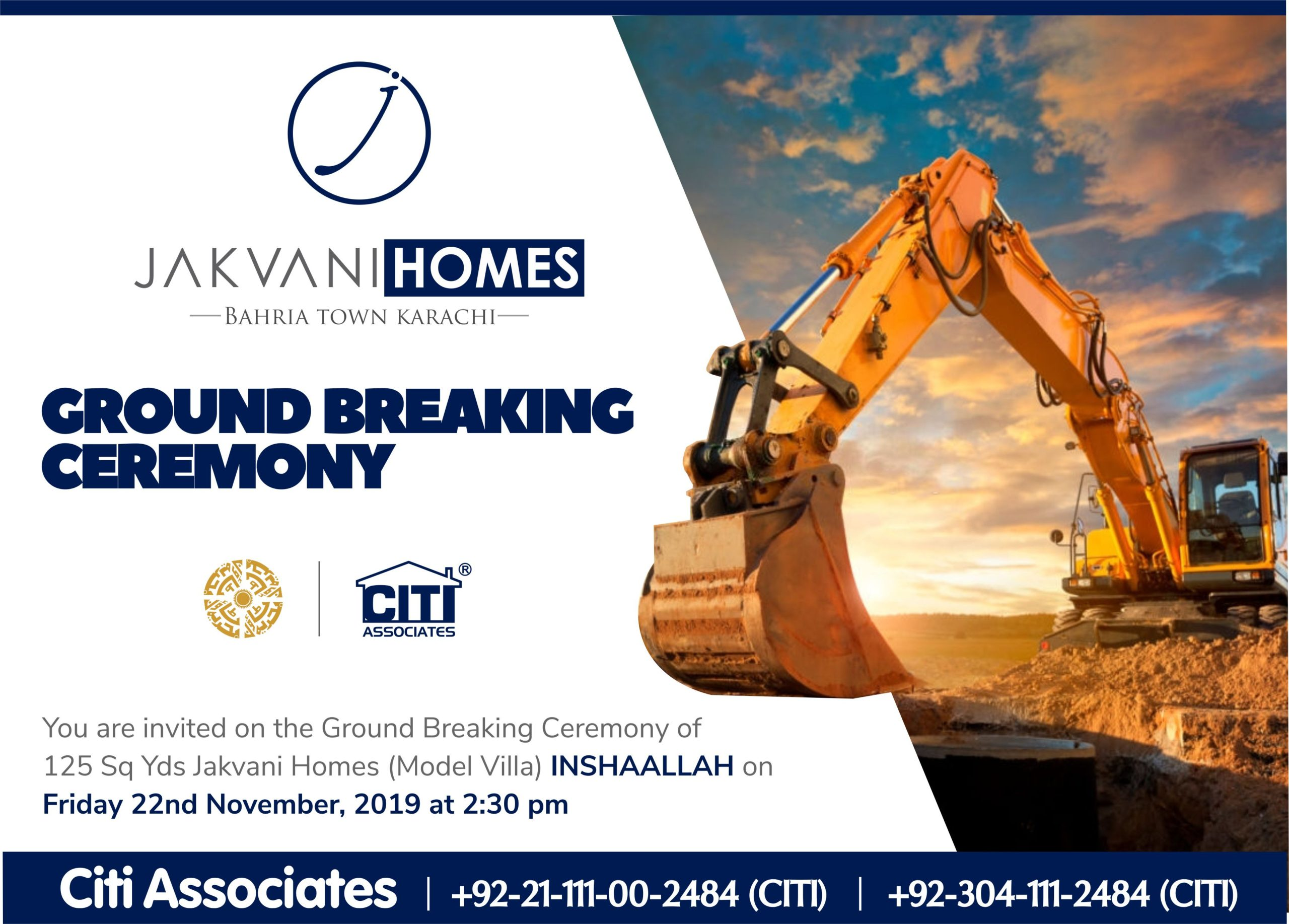 Ground Breaking Ceremony of 'Jakvani Homes' | Bahria Town Karachi