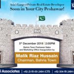 Bahria Town Peshawar Sales and Marketing Office to be Inaugurated