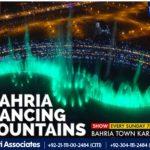 Mesmerising Show of Bahria Dancing Fountains Karachi