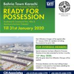 Ready for Possession | Bahria Town Karachi