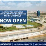 Bahria Town's Dedicated M9 Interchange Karachi – Now Open!