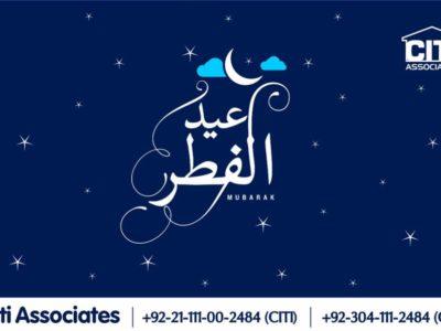 Eid-ul-Fitr 2020 Mubarak! from CITI Associates
