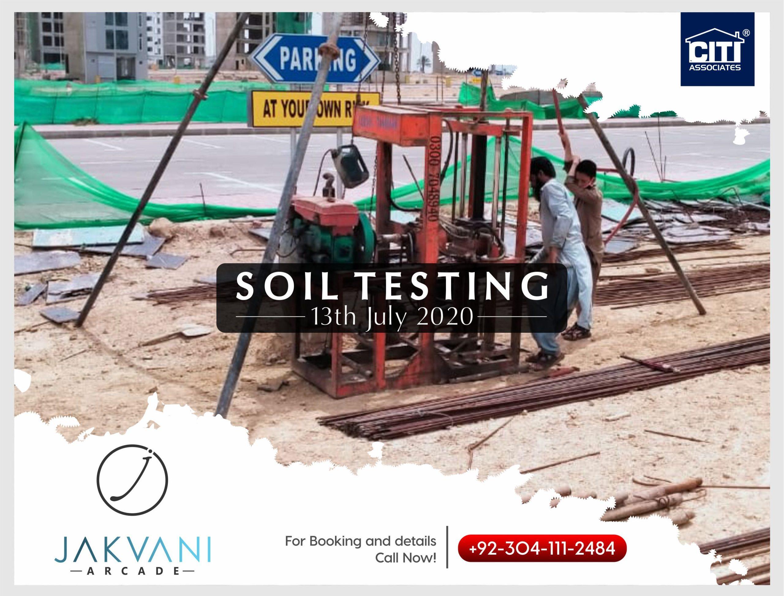 Soil Testing | Jakvani Arcade | Bahria Town Karachi
