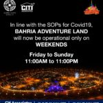 Bahria Adventure Land Karachi will now be Operational only on Weekends.
