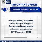 Important Notice! Bahria Town Karachi