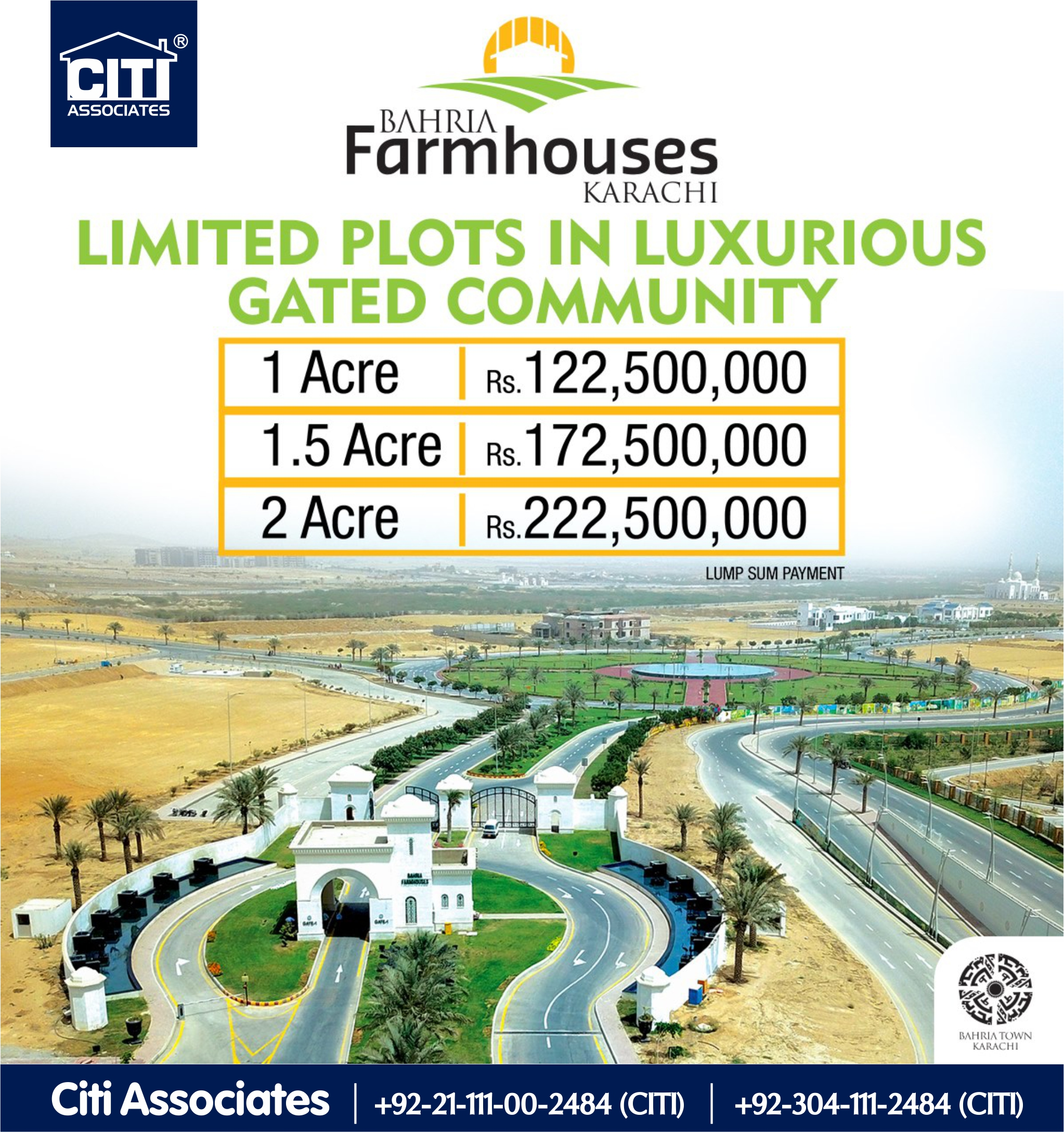 Limited Plots Available | Bahria Farmhouses Karachi