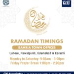 Ramadan Timings | Bahria Town Karachi
