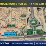 Alternate Route for Entry and Exit to Bahria Town Karachi