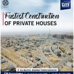 Fastest Construction of Private Houses | Ali Block | Bahria Town Karachi