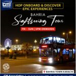 HOP Onboard & Discover Epic Experiences | Bahria Sightseeing Tour Karachi